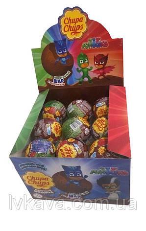 Шоколадный шар PJMasks ( Герои в масках ) Chupa Chups с сюрпризом , 20 g X 18 шт, фото 2