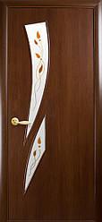 Двери Новый Стиль Камея+Р1 орех, коллекция ПВХ Модерн Р