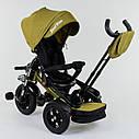 Трехколесный велосипед хаки Best Trikeмодели4490 пульт надувные колеса поворотное сидение музыка свет, фото 2