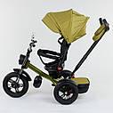 Трехколесный велосипед хаки Best Trikeмодели4490 пульт надувные колеса поворотное сидение музыка свет, фото 3