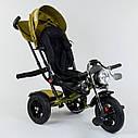 Трехколесный велосипед хаки Best Trikeмодели4490 пульт надувные колеса поворотное сидение музыка свет, фото 4