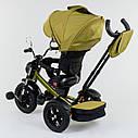 Трехколесный велосипед хаки Best Trikeмодели4490 пульт надувные колеса поворотное сидение музыка свет, фото 5