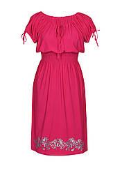 Прямое платье на резинке Хризантемы