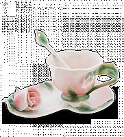 "Фарфоровая чайная пара ""Роза"" (Pavone)"