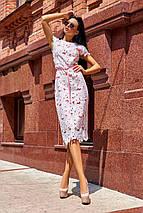 Необычное фактурное женское платье-футляр из прошвы и коттона (Лика jd), фото 3
