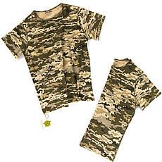 Детский камуфляж комплект Скаут костюм кепка футболка расцветка Пиксель., фото 3