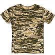 Детский камуфляж комплект Скаут костюм кепка футболка расцветка Пиксель., фото 6