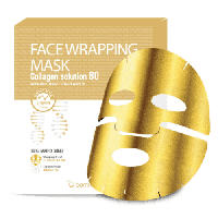 Маска-обертывание для лица с коллагеном Berrisom Face Wrapping Mask Collagen Solution 80, фото 1