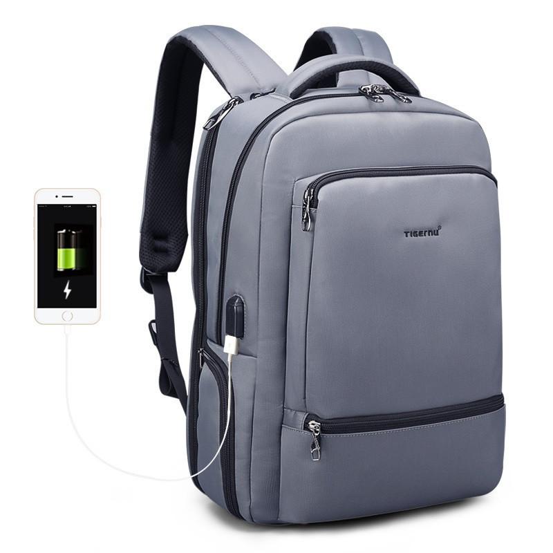 Стильный современный городской рюкзак Tigernu T-B3585 серый