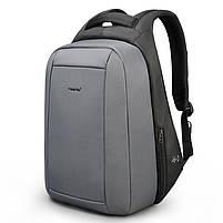 Брендовый водонепроницаемый мужской рюказак для ноутбука Tigernu T-B3599, темно-серый, фото 2