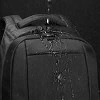 Брендовый водонепроницаемый мужской рюказак для ноутбука Tigernu T-B3599, темно-серый, фото 4