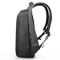 Брендовый водонепроницаемый мужской рюказак для ноутбука Tigernu T-B3599, темно-серый, фото 8
