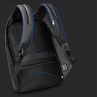 Брендовый водонепроницаемый мужской рюказак для ноутбука Tigernu T-B3599, темно-серый, фото 9