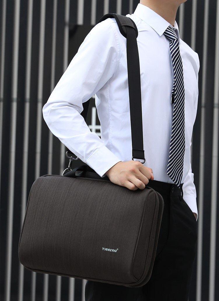 Мужская сумка на плечо Tigernu T-L5150, коричневый