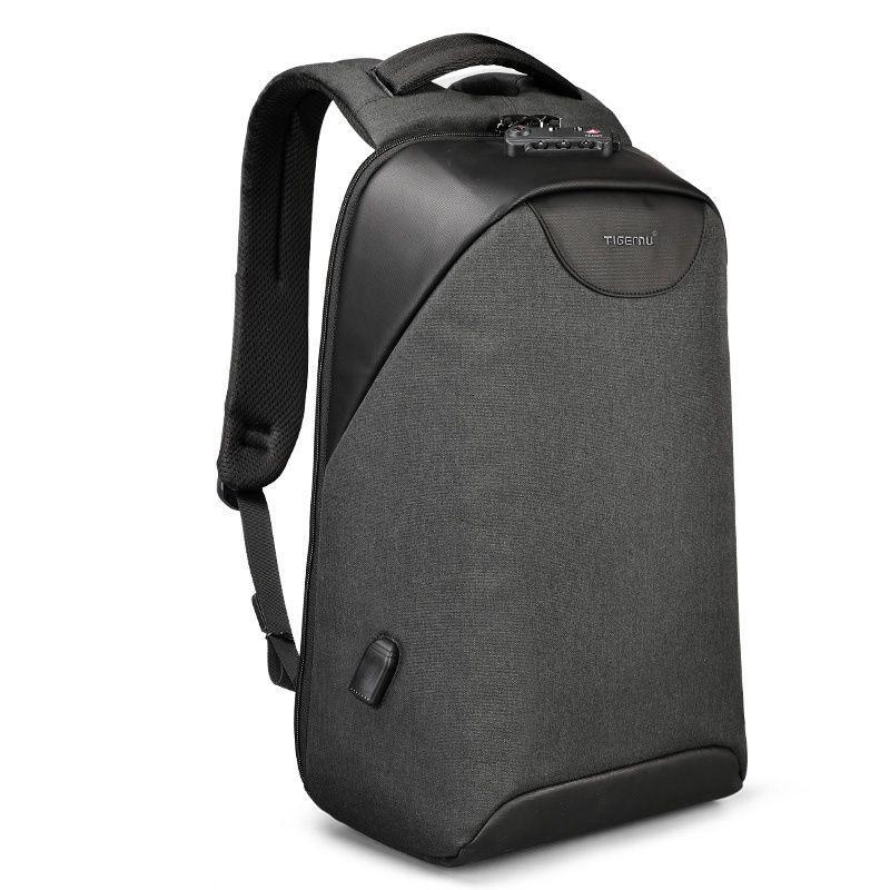Современный рюкзак Tigernu T-B3611 c USB-портом, серый
