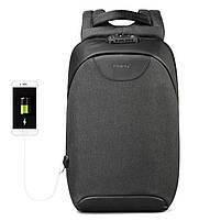 Современный рюкзак Tigernu T-B3611 c USB-портом, серый, фото 2