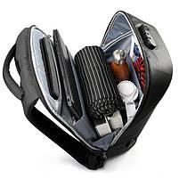 Современный рюкзак Tigernu T-B3611 c USB-портом, серый, фото 4