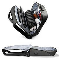 Современный рюкзак Tigernu T-B3611 c USB-портом, серый, фото 5