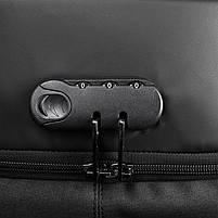 Современный рюкзак Tigernu T-B3611 c USB-портом, серый, фото 7