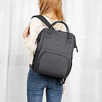 Городской рюкзак для мам Tigernu T-B3358, т.серый, фото 4