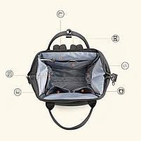 Вместительный женский рюкзак Tigernu T-B3358 для активных мам :), серый, фото 6