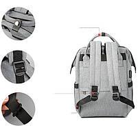 Вместительный женский рюкзак Tigernu T-B3358 для активных мам :), серый, фото 7