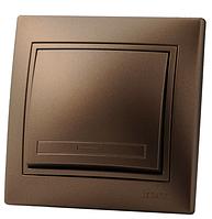 Выключатель 1-клав. Lezard MIRA светло-коричневый перламутр