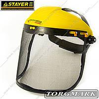 Защитный щиток для триммера мотокоссы стальная сетка (STAYER PROFESSIONAL)