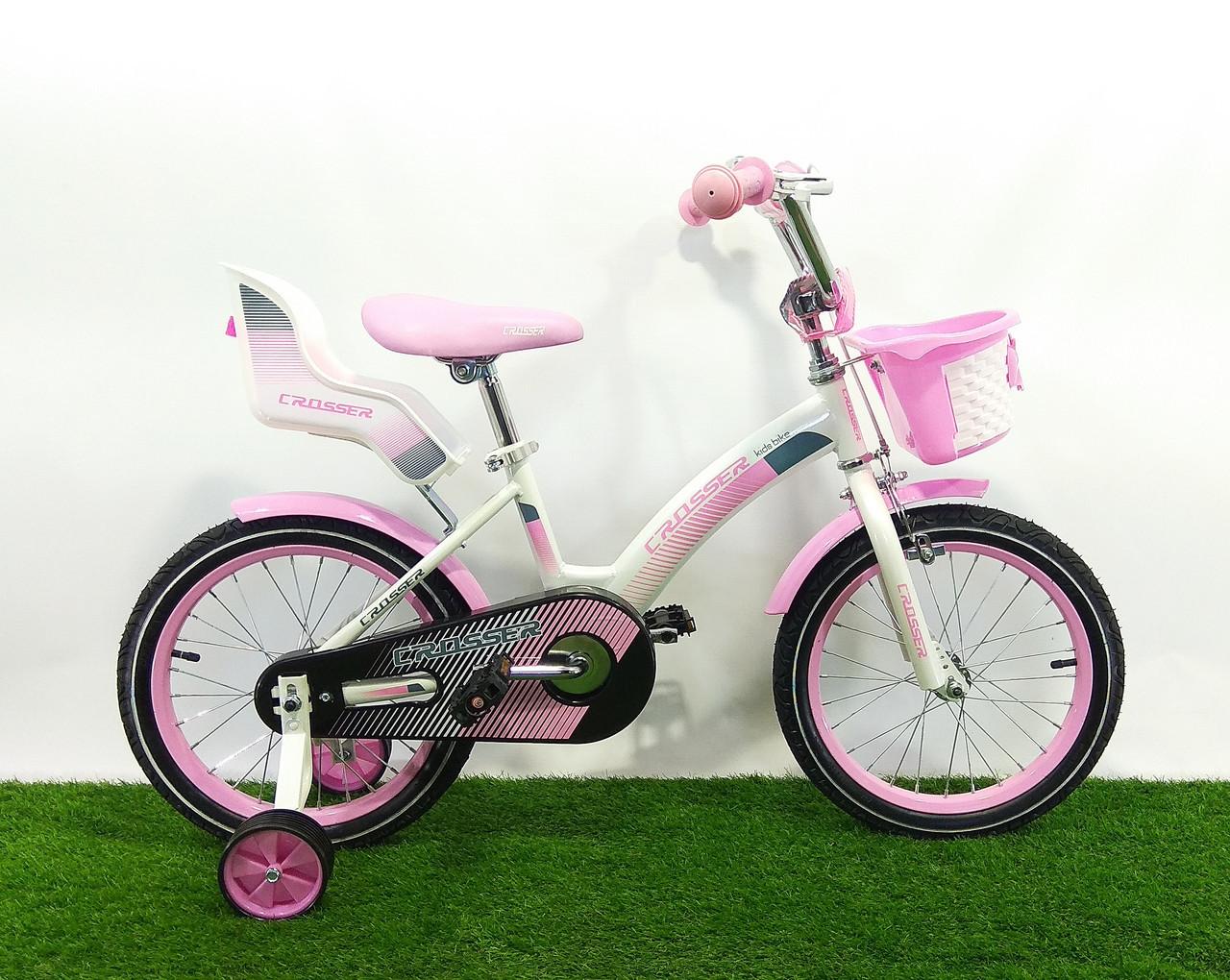 """Детский велосипед для девочек Crosser Kids Bike 16"""""""