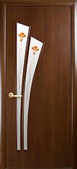 Двери Новый Стиль Лилия+Р1 орех, коллекция ПВХ Модерн Р