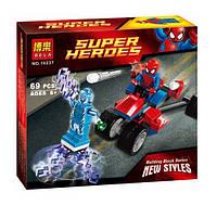 Конструктор Bela 10237 Супергерои Человек-Паук против Электро (аналог Lego Super Heroes 76014)
