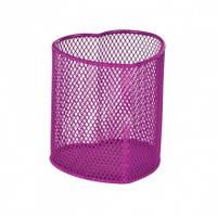 """Подставка для ручек Zibi """"Сердце"""",металлическая,розовая ZB.3102-10"""