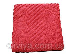 Махровое полотенце для ног кирпичное 50х70, фото 3