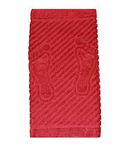 Махровое полотенце для ног кирпичное 50х70, фото 2