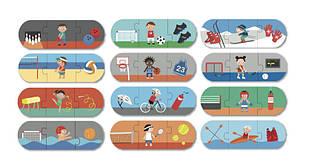 Пазл для малышей «Виды спорта» 36 элементов