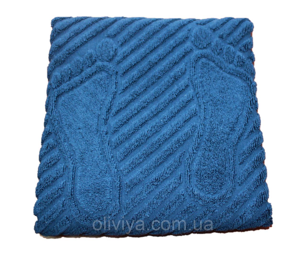 Полотенце/коврик для ног (синий)