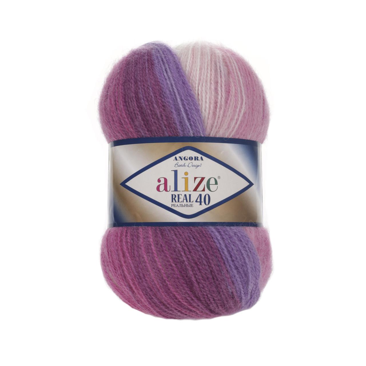 Alize Angora Real 40 Batik 3950 нитки для вязания цена 27560 грн