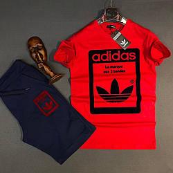 Летний комплект Adidas, футболка + шорты