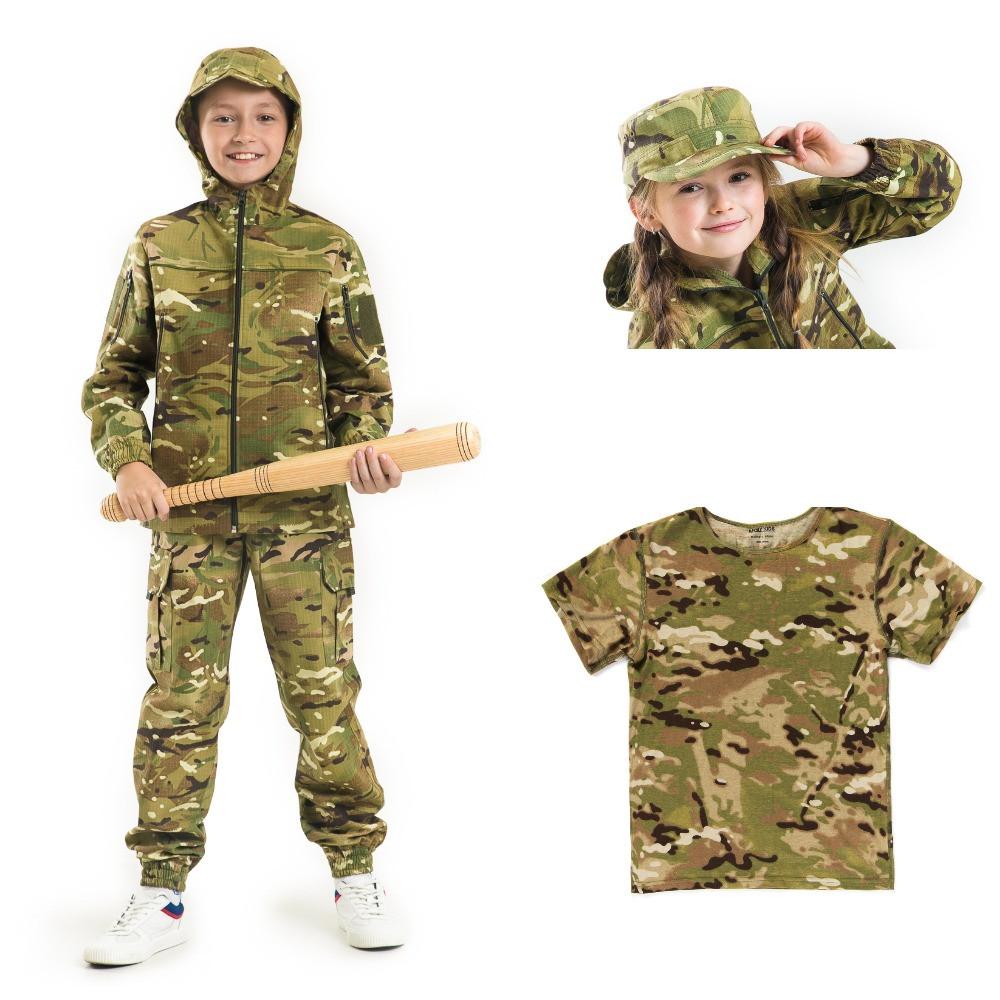 Детский камуфляж комплект Скаут костюм кепка футболка расцветка MTP