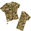 Детский камуфляж комплект Скаут костюм кепка футболка расцветка MTP, фото 5