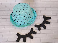 Хлопковая панамка от солнца размер 44-46см