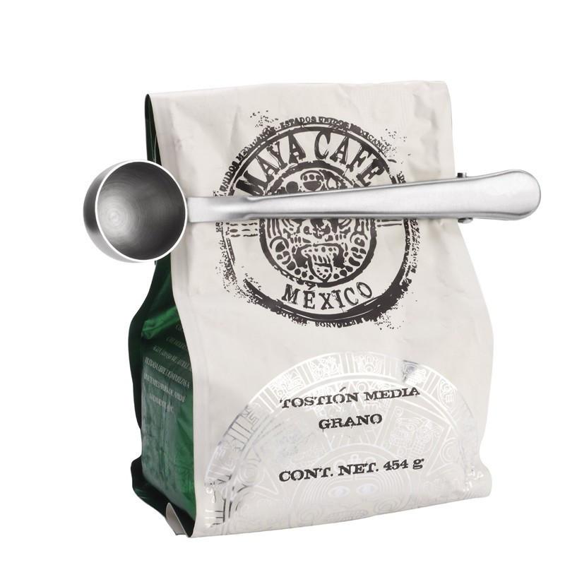 Мерная ложка для кофе с зажимом