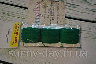Акрил для вышивки, цвет - зеленый