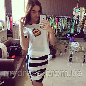 Костюм Chanel юбка и блуза