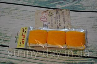 Акрил для вышивки, цвет - желто-оранжевый