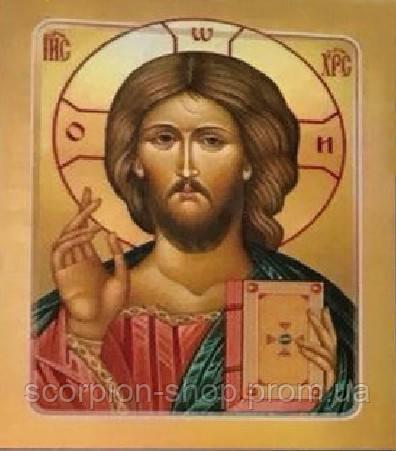 """Алмазная живопись """"Икона Иисус Христос"""" (30*40 см) Полная закладка"""