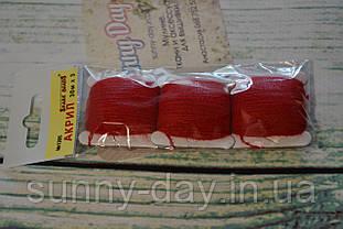 Акрил для вишивки, колір - червоно-вишневий