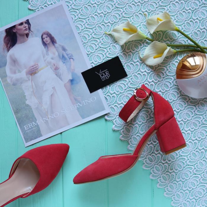 Женские босоножки с закрытой пяткой и острым носком Натуральная замша Возможен отшив в других цветах