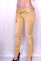 Цветные джинсы цвета Горчица