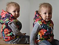 Детская жилетка Moncler (Турция) 92-116 цветы